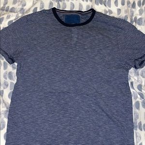 Express Blue Striped Tee